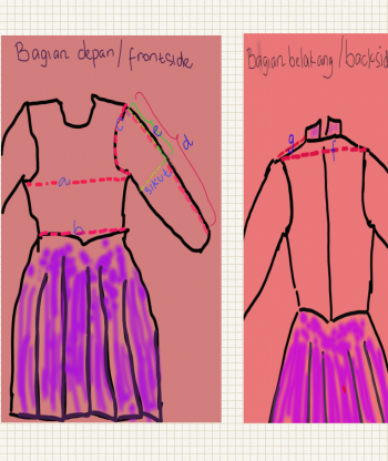 cara buat baju muslim